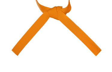 Knotted Karate Orange Belt