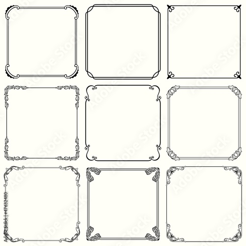 Decorative frames (set 36)