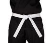 Karate White Belt Tied Around Torso Black Uniform