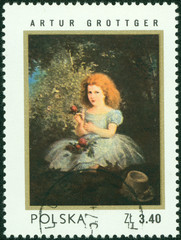 stamp printed in the Poland shows painting by Artur Grottger