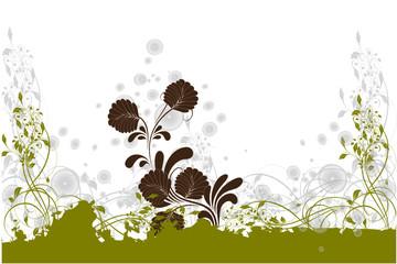 vert écolo de feuilles