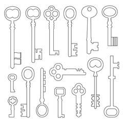 Set of shapes of keys