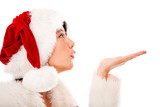 Mrs Claus blowing kisses