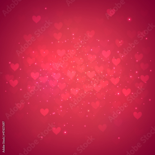 Red heart background.
