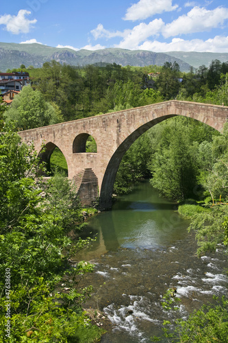 view of small town in Catalonia - Sant Joan De Les Abadesses