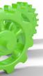 Grüne Zahnräder isoliert 1