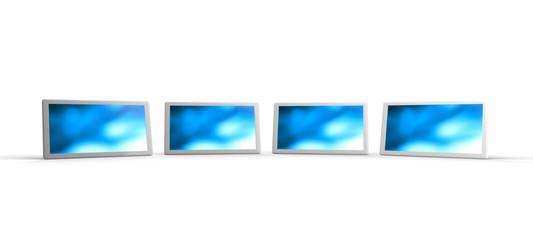 3D Tablet-PC Weiß in Reihe 3