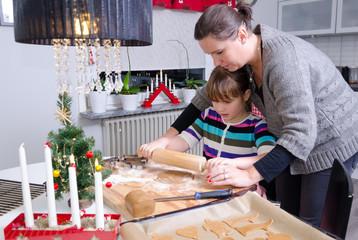 Kitchen education in Christmas season