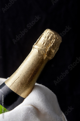 Bottle of Champagne ready to be served