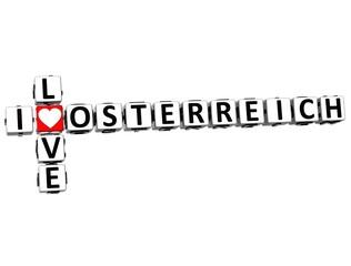 3D I Love Osterreich Crossword