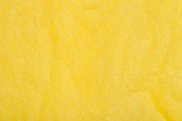 Crumpled yellow paper