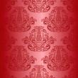 Red seamless wallpaper in stile retro.