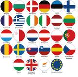 Vektor Europa Fahnen Flaggen