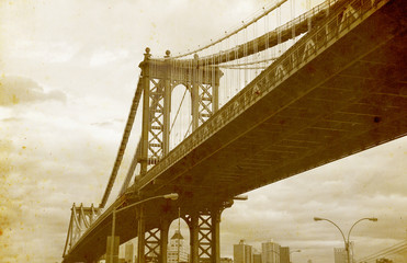 Bridge of New York City, U.S.A.