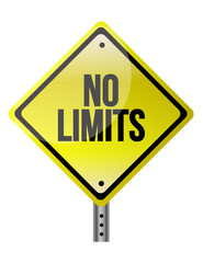 no limit sign concept