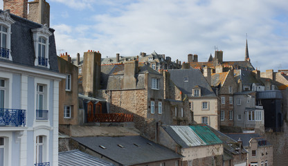 roofs od Saint-Malo old town