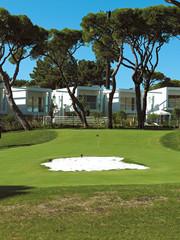 Retirement community condos on a resort golf course