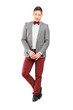 Full length portrait of a handsome stylish male posing