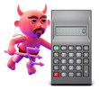 Devil notices a large calculator