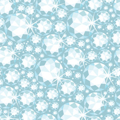 Vector shiny diamonds seamless pattern background with geometric