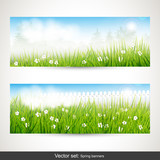 Spring banners - vector set