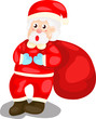cute Santa with sack