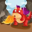 cute dragon blow fire