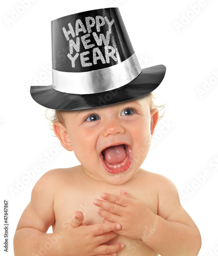 Happy new year baby - 47647867