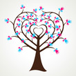 heart shape hand like leaf tree stock vector