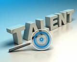 headhunter concept, talent hunter poster