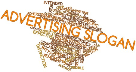 Word cloud for Advertising slogan