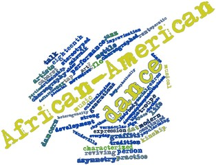 Word cloud for African-American dance