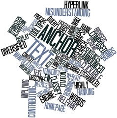 Word cloud for Anchor text
