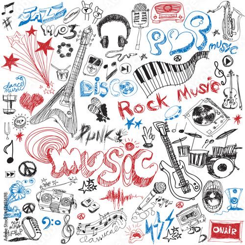 ręcznie narysuj element muzyczny