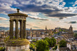 View from Calton Hill in sunny day