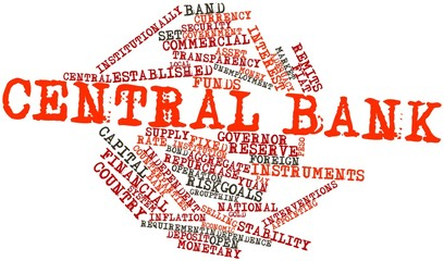 Word cloud for Central bank