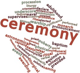 Word cloud for Ceremony