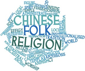 Word cloud for Chinese folk religion