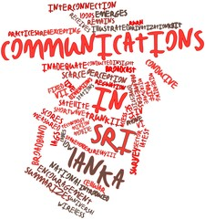 Word cloud for Communications in Sri Lanka