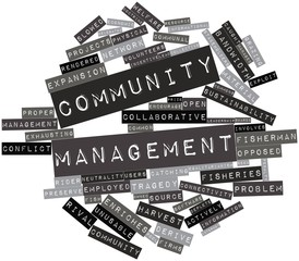 Word cloud for Community management
