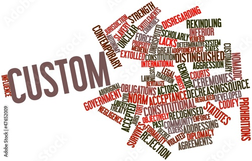Word cloud for Custom