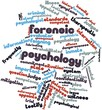 Постер, плакат: Word cloud for Forensic psychology