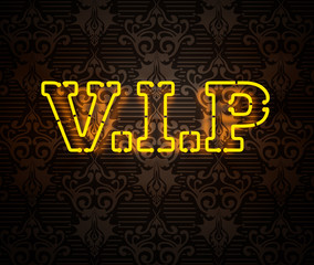 Neon VIP sign II isolated on black