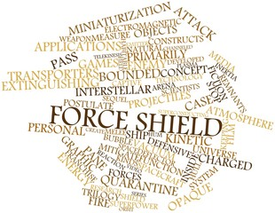 Word cloud for Force shield