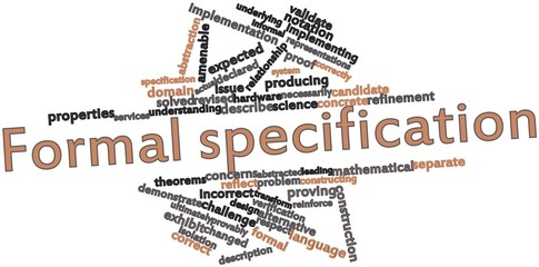 Word cloud for Formal specification