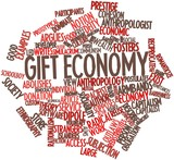 Word cloud for Gift economy
