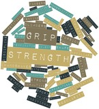 Word cloud for Grip strength