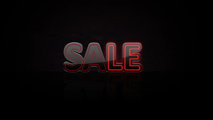 Animated abstract Sale, dynamic digital background, HD 1080p.