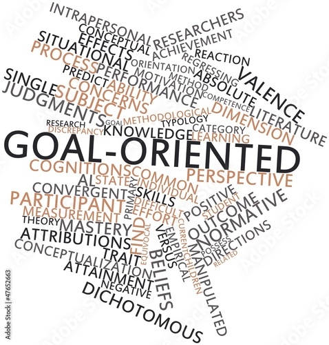 Word cloud for Goal-oriented