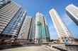 Five high-rise buildings under construction
